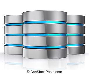 3d, ilustración, de, base de datos, almacenamiento, concepto, nube, computing.