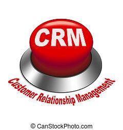 3d, ilustración, de, crm, (customer, relación, management),...