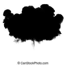 3d, ilustración, de, explosión, nube, silueta