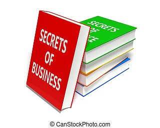 3d, ilustración, de, libros, stack., empresa / negocio, themed, books.