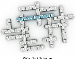 3d image Acupuncture issues concept word cloud background