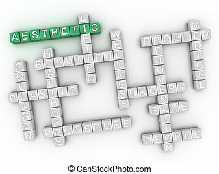 3d image Aesthetic issues concept word cloud background