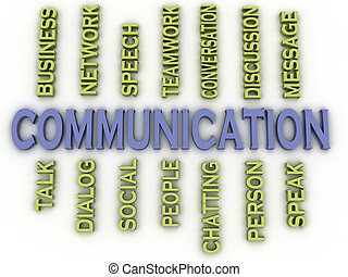 3d image communication issues concept word cloud background