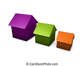 3d image, Conceptual house, options, type, size