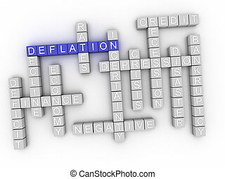 3d image Deflation word cloud concept