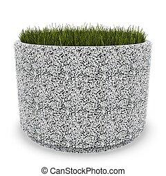 3d image flower pot concrete marble Aleksandria
