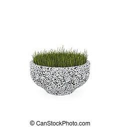 3d image flower pot concrete marble Alpina