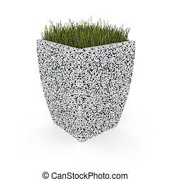 3d image flower pot concrete marble Baltema