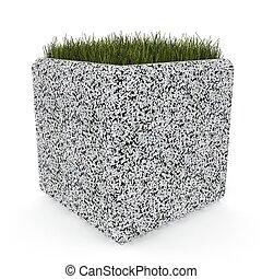 3d image flower pot concrete marble Barbara