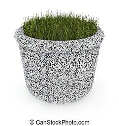3d image flower pot concrete marble Bigarden