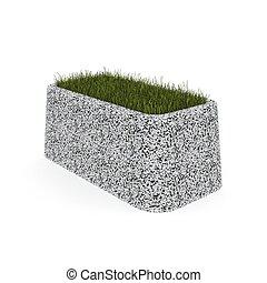 3d image flower pot concrete marble Boato