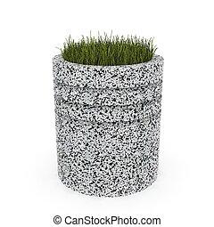 3d image flower pot concrete marble Gamburg