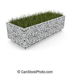 3d image flower pot concrete marble Jeck