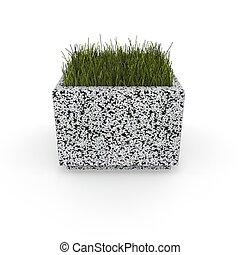 3d image flower pot concrete marble Jessica