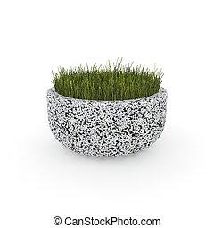 3d image flower pot concrete marble Lobbito