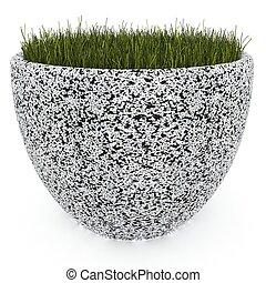 3d image flower pot concrete marble Magdalena