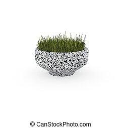 3d image flower pot concrete marble Verona