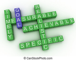 3d image Goal issues concept word cloud background