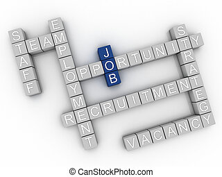 3d image Job issues concept word cloud background