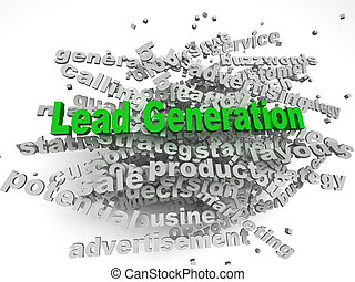 3d image Lead Generation  issues concept word cloud background