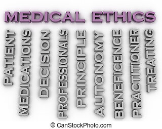 3d image medical ethics   issues concept word cloud background