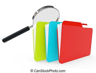 3d image of a file folder