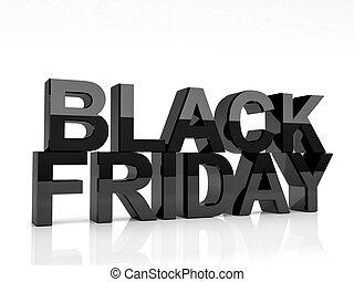black friday - 3d image of black friday text on white ...