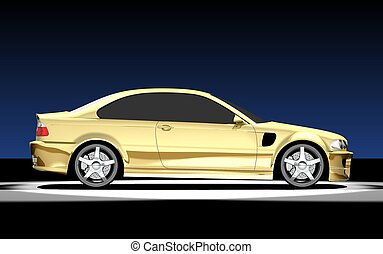 3D render of BMW M3. Redesigned by myself