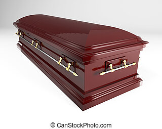 coffin - 3d image of classic coffin