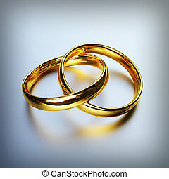 gold rings - 3d image of classic gold rings background