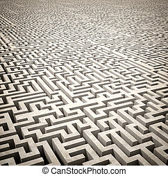 3d image of classic maze