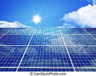 solar panel - 3d image of classic solar panel