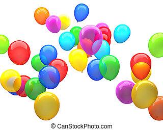 3d ballons - 3d image of colorful 3d ballons