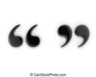 Quotation Marks - 3d Image of Drop Cap Quotation Marks