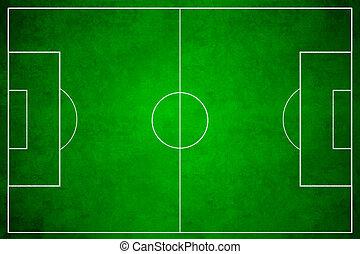 3d image of green soccer field, football