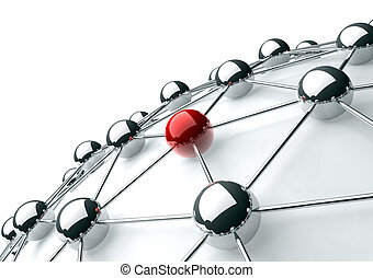 networking and internet concept - 3d image of networking and...