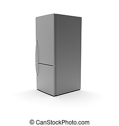 3d image of Refrigerator isolated on a white background 05