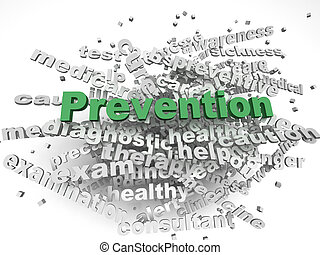 3d image Prevention issues concept word cloud background