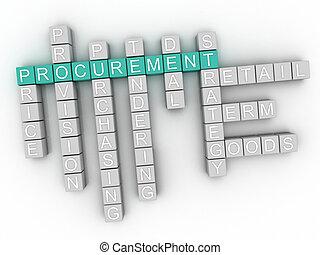 3d image Procurement word cloud concept