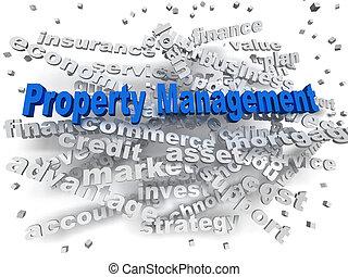 3d image Property Management word cloud concept