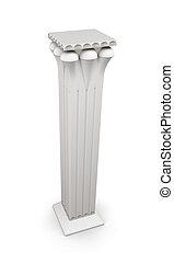 3d, imagem, colunas, isolado, branco, fundo