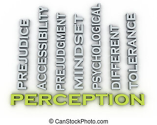3d, imagem, percepção, edições, conceito, palavra, nuvem, fundo