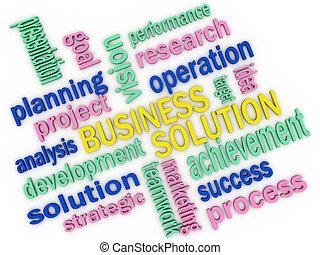 3d imagen about business solution concept
