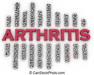3d, imagen, arthritis, ausgaben, begriff, wort, wolke, hintergrund