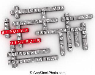 3d imagen Bipolar disorder word cloud concept