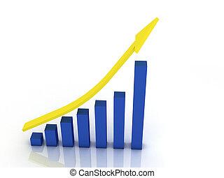 3d imagen. Business graph. Business concept