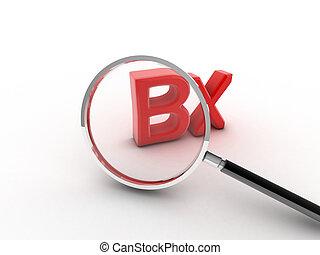 3d imagen BX Biopsy symbol. Biopsy concept