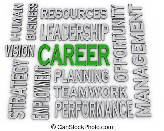 3d imagen Career concept word cloud background