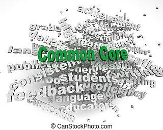 3d imagen Common Core  issues concept word cloud background