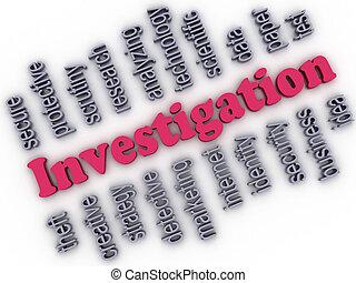 3d imagen Investigation concept word cloud background